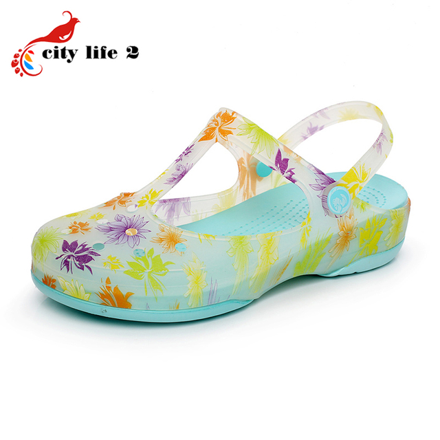 Aliexpresscom Buy Summer Gradient Color Clogs For Women Hole