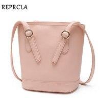 REPRCLA Simple Fashion Women Bucket Bag High Quality PU Leather Shoulder Bags Ladies Brand Designer Handbags