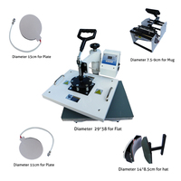 New Design Heat Transfer Machine 5 in 1 T shirt/Mug/Cap/Plate/Mouth Pad/phone case printer,Upgrated Sublimation printer