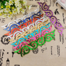 1 pcs 3D Sequined Patches Cosplay Costume Appliqued Gold Venise Flower Trim Iron On Vintage free shipping