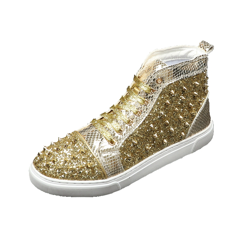 Moda Casuais Novo Botas Adultos Dos Primavera Ouro Tênis Sapatos Rebite 2019 Top Outono Lantejoula Masculinos Altas Homens De Design Sapatas T8pq8PxrIw