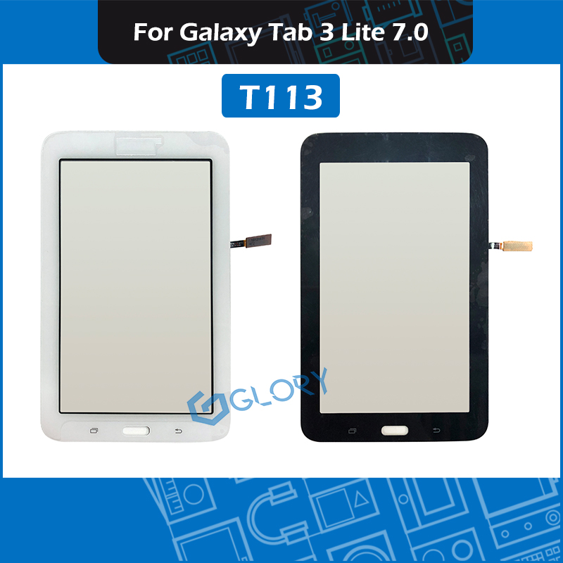 10pcs/Lot For Samsung Galaxy Tab 3 Lite 7.0 SM-T113 T113 LCD Display Touch Screen Panel Glass Replacement