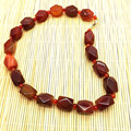Natural red agate Carnelian Bead necklace 13X18mm bead agate necklace high quality natural stone Party necklaces