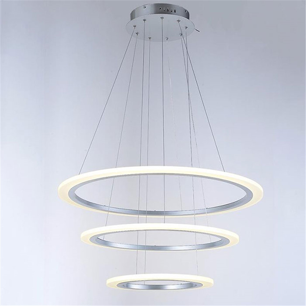 Modern new design led pendant light ring lamp acrylic for Lustre 3 suspensions