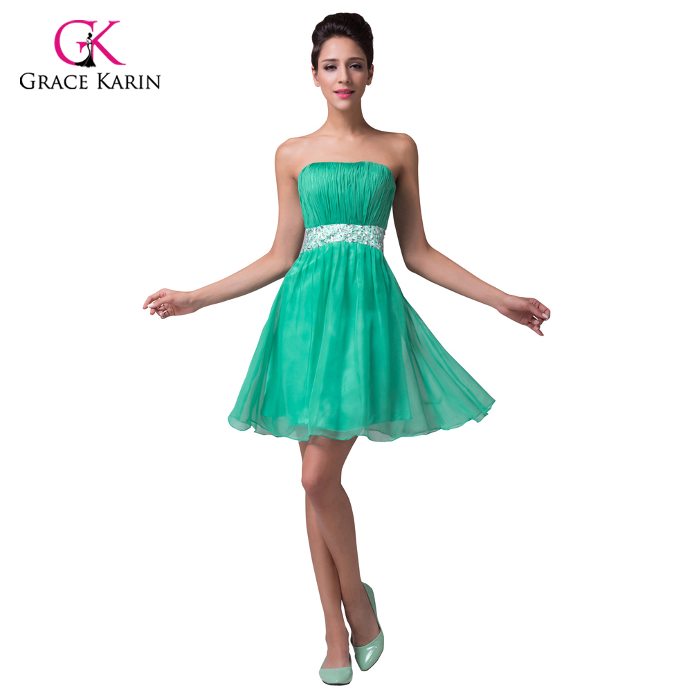 Popular green bridesmaid dresses under 50 buy cheap green grace karin princess chiffon cheap short green bridesmaid dresses under 50backless beaded wedding party ombrellifo Images