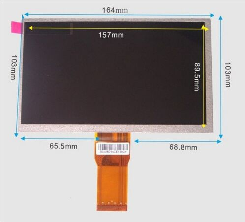 103*164MM 7INCH  LCD DISPLAY SCREEN For DNS Airbook TVD704 Tablet Replacement Free Shipping 7inch lcd screen display for pocketbook surfpad 2 tablet replacement free shipping
