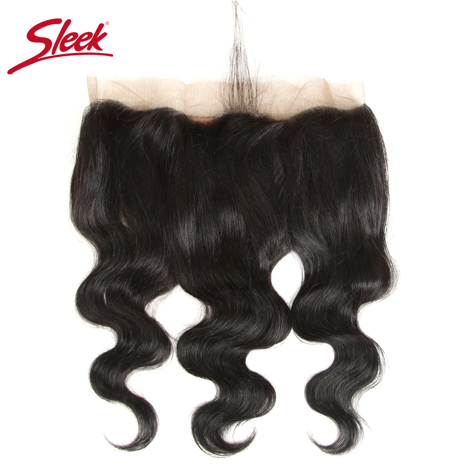 Sleek Colorful Human Hair Peruvian Body Wave Lace Frontal Closure 13x4 Ear to Ear Free Part Closure 8-22 inches Remy Human Hair
