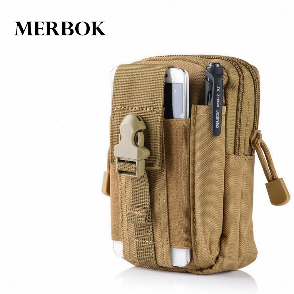Outdoor Sport Pouch Molle Waist Pack Purse Mobile Phone Bag For ZTE Hawkeye / Axon 7s / Axon 7 s Axon7s Axon7 s Flip Cover Case