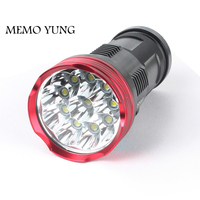 20000 lumens powerful flashlights SKYRAY King 10T6 LED torch 10x CREE XM L T6 LED Flashlights Torch for 18650 battery