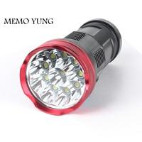 20000 lumens powerful flashlights SKYRAY King 10T6 LED torch 10x CREE XM L T6 LED Flashlights Torch for 18650 battery
