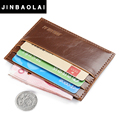 JINBAOLAI 2016 Hot Sale Vintage Slim Mini PU Leather Credit ID Card Holder Wallet Purse Bag Pouch Book Cover Case Wholesale