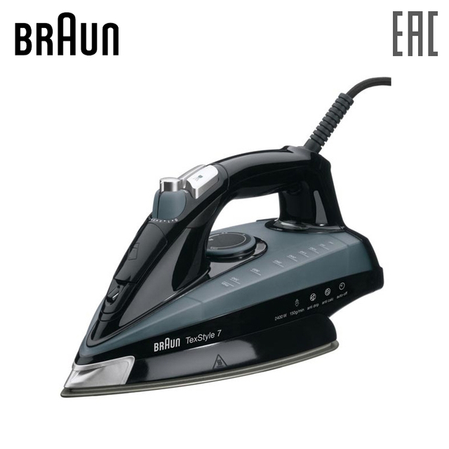 Iron BRAUN TS745A steam generator for ironing irons steam Household for Clothes Selfcleaning Burst of Steam zipper