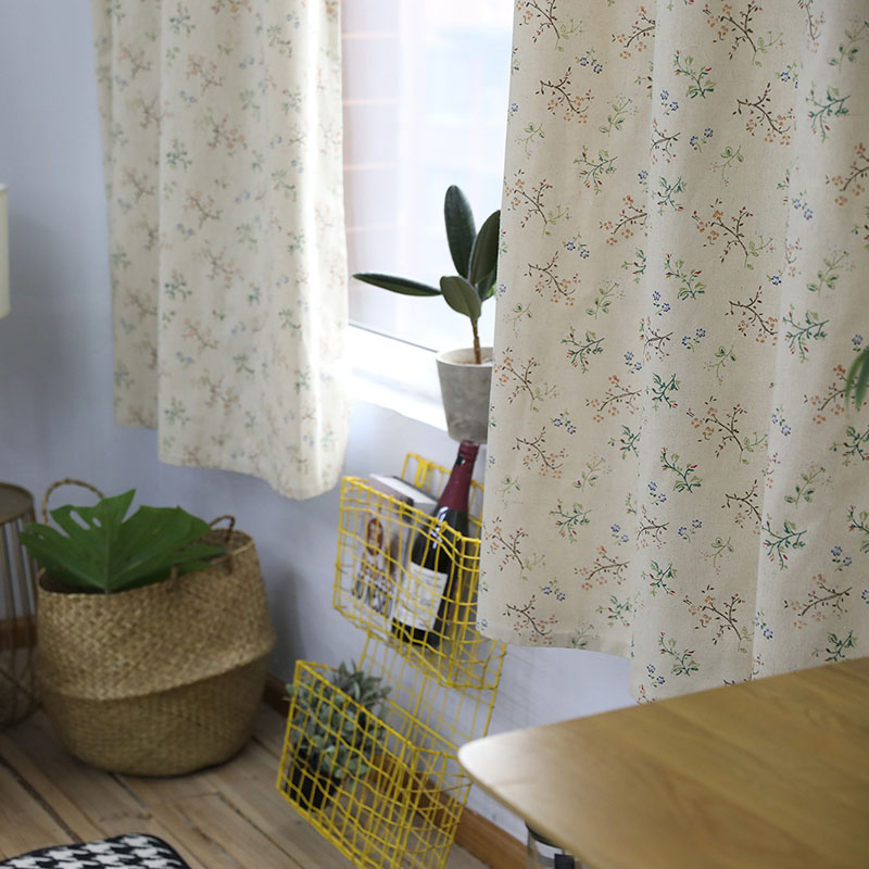 Image 3 - Modern Countryside Small Flower Printed Blackout Curtain For Livingroom Bedroom Window Treatment Drapes Solid Home Decoration-in Curtains from Home & Garden