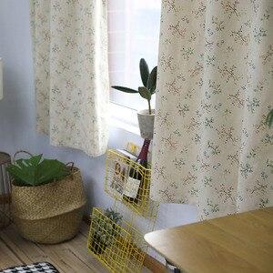 Image 3 - Moderne Platteland Kleine Bloem Gedrukt Verduisteringsgordijn Voor Woonkamer Slaapkamer Window Behandeling Gordijnen Effen Woondecoratie
