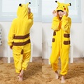 kids cosplay pokemon costumes go yellow pikachu pajamas for girls boy pikachu costume halloween costume boys child kid