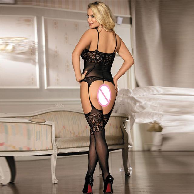 Women Sexy Lingerie Transparent Conjoined DressBondage Costumes Erotic Porn Hot
