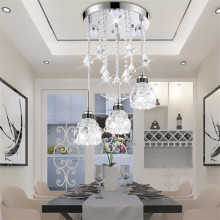 Nordic LED Lighting Living Room Bedroom Luxury Crystal Pendant Lamp Restaurant Creative Personality Decoration Pendant Lights nordic pendant lights contracted metal led pendant light bedroom restaurant pendant lamp creative wrought iron modern lighting
