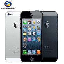 "Original Factory Unlocked Apple Iphone 5 Mobile Phone 16GB 32GB 64GB ROM IOS 3G 4.0"" 8MP touchscreen iCloud WIFI GPS GPRS Used(China)"