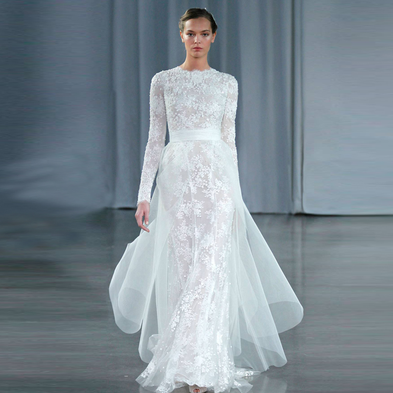 Online Get Cheap Modest Wedding Dresses Lace -Aliexpress.com ...