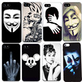Cool Style For Iphone 7 7Plus 6 6S 5 5S SE 4 4S Cases Silicon TPU Black Soft For Apple IphonEe7 7 Plus 6 6S 5 5S 4 4S Cases