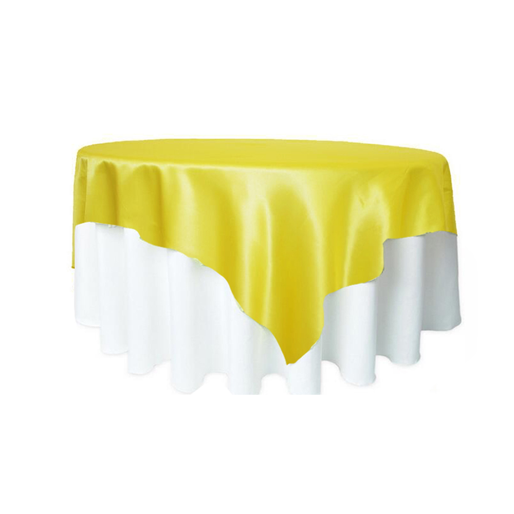 10pcs Pack 57 x 57 Square Satin Tablecloth Table Covers For Wedding Party Restaurant Banquet Decorations