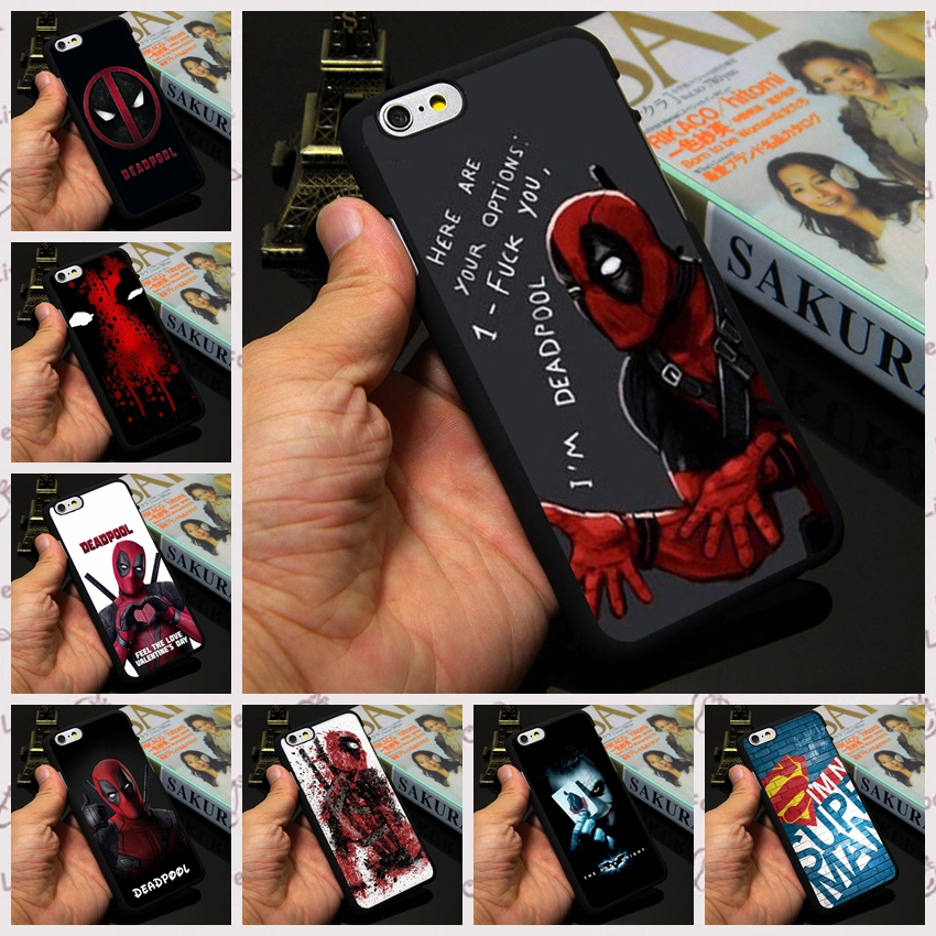 Super Funny Cool Marvel Hero SuperMan Iron Man Deadpool Cover Case for Apple iPhone 7 4 4s 5 5s 5c 6 6s plus