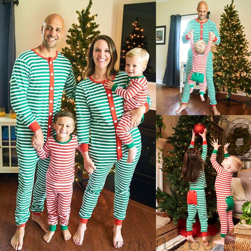 Family Matching Christmas Pajamas Set Men Women Kids ...