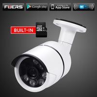 Fuers Outdoor Waterproof IP Camera WiFi Wireless Surveillance Camera Built In 16G Memory Card CCTV Camera