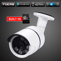Fuers Outdoor Waterproof IP Camera WiFi Wireless Surveillance Camera Built In 16G Memory Card CCTV Camera
