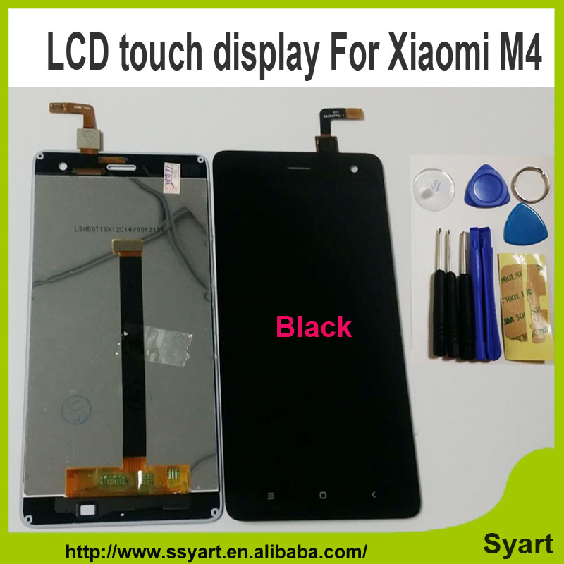 1PCS Black AAA Quality New Repair Parts LCD Display and Touch Screen Digitizer Replacement cell phone For xiaomi mi 4 m4 mi4