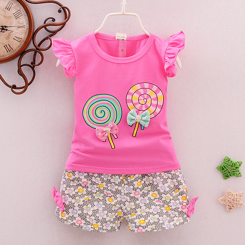 Girls vest shorts sets Fashion summer suit Girl sleeveless vest shorts two-piece outfit The color vest in the summer
