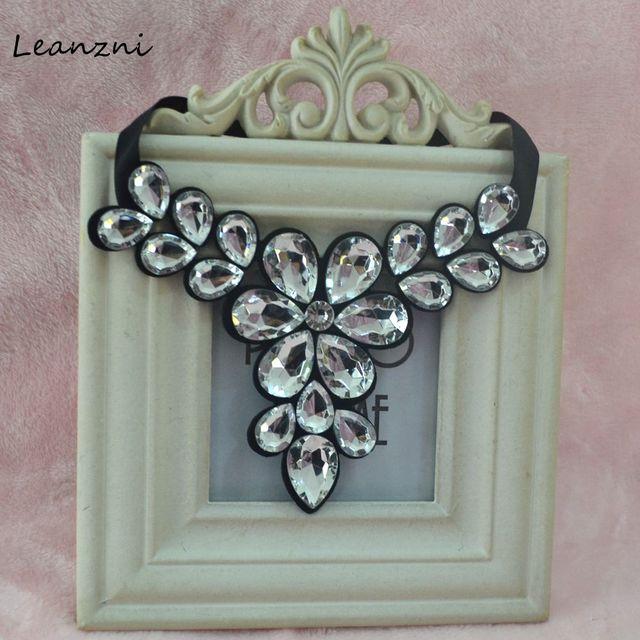 Leanzni короткие заявление ожерелье и кулон ожерелье, модная женщина акриловая смола ожерелье Подарочные аксессуары