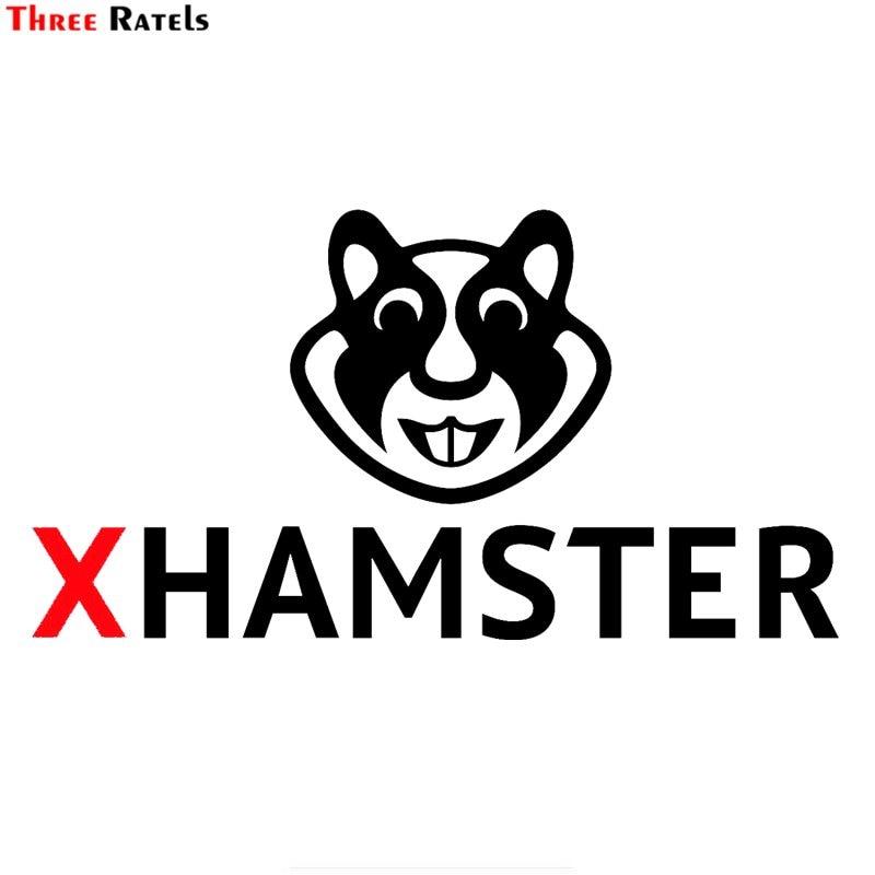 Three Ratels FTZ-7# 20x10.6cm XHamster-Logo Vinyl Window Car Sticker Car-styling Decal