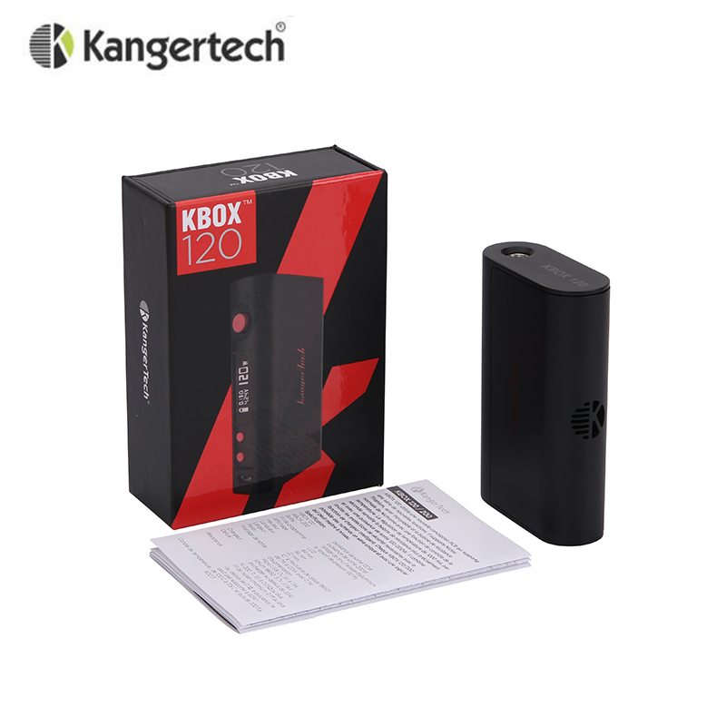 Original Kanger KBOX 120W Temperature Control Variable Wattage Box Mod Powered by 18650 Battery