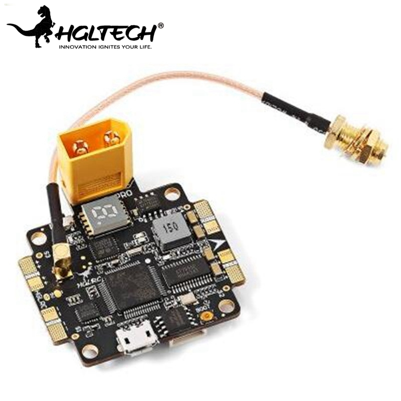 HGLRC F4 V5PRO Flight Controller 5.8G 40CH 0/25/200/600mW Switchable FPV Transmitter 5V BEC OSD PDB VS Betaflight Omnibus F4 high quality flytower f3 flight controller 25 200 400mw switchable fpv transmitter osd dshot 30a 4 in 1 esc pdb