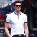 2017 Летний Новый мужская Polo Рубашка Мода Высокое Качество Камуфляж Воротник Досуг Марка POLO Рубашка Мужчины одежда