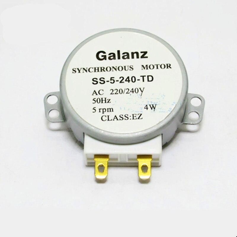 1 Stücke Für Galanz Mikrowelle Teile Synchron Plattenspieler Motor Ss-5-240-td Ac220v Halbkreisförmige D-form Welle 100% Garantie Haushaltsgeräte Küchengerät Teile