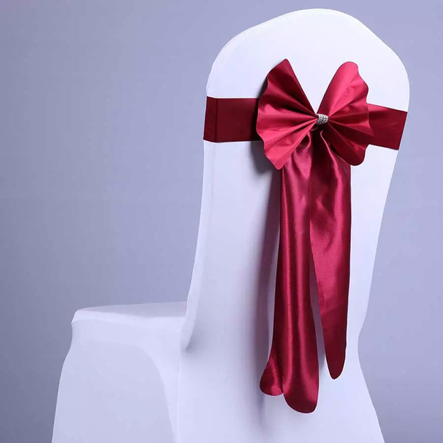 5 Pcslot Fashion Design Chair Sashes Bow Chair Cover Sashes For