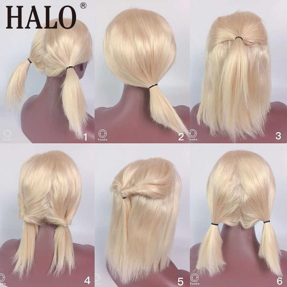 613 شقراء الدانتيل الجبهة الباروكات الطبيعية مستقيم البرازيلي 100% شعر الإنسان قصيرة بوب باروكة من شعر طبيعي 13x6 الدانتيل الباروكة أمامي 150 الكثافة
