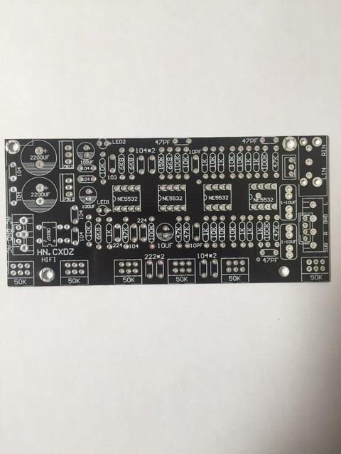 Fannyda DIY altı kolları yükseltilmiş versiyonu NE5532 ton kurulu 2.1 kanal ev amplifikatörler ön sahne ön panel PCB boş tahta