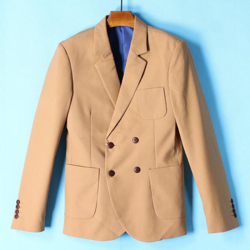 Giacca Di Del Uomini Khaki Giacche Equipaggiata Kaki Cappotto Xxl Per Slim  Casual Vestito Color Modo ... b5bcfeb436c