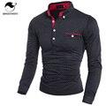 Mens Polo Shirt Brands 2017 Мужской С Длинным Рукавом Моды Случайные Тонкий Горошек Кнопка Карман Поло Мужчины Майки
