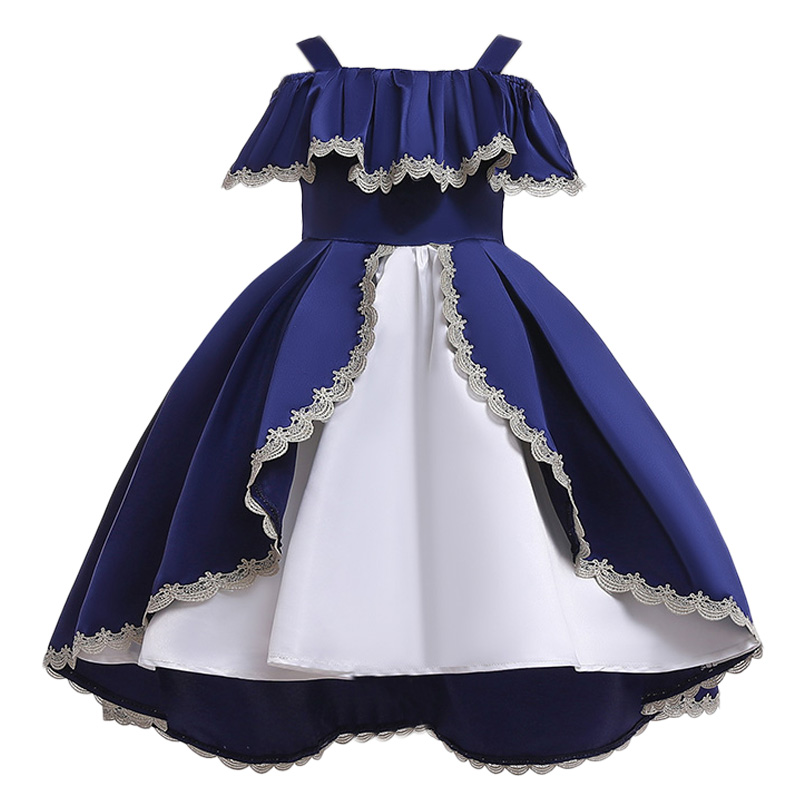 ce6237c3c Vestido elegante para niñas de verano 2019, Vestido de boda para niñas,  vestidos para niñas, ...