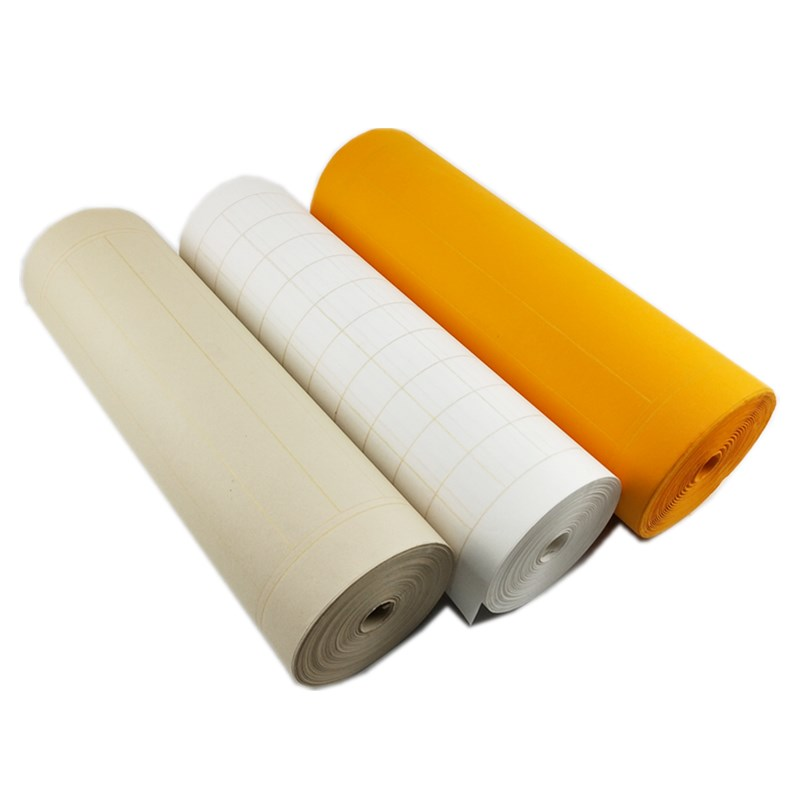 50m Square Grid Rice Paper for Calligraphy Brushes Writing Vertical Grid Xuan Paper for Copy Scriptures Half-Ripe Raw Xuan Paper50m Square Grid Rice Paper for Calligraphy Brushes Writing Vertical Grid Xuan Paper for Copy Scriptures Half-Ripe Raw Xuan Paper
