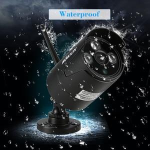 Image 4 - KKmoon sistema de vigilancia de seguridad CCTV, 4 canales, 1080P, WiFi, NVR, 4 Uds., cámara IP inalámbrica de 1.0MP, impermeable, visión nocturna