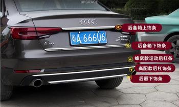 JINGHANG Auto porta in acciaio inox Posteriore portellone Inferiore del telaio piastra tronco trim cappe Misura Per Audi A4 A4L 2017 2018