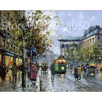 Autumn Paris Street DIY Paint On Wall Kit Coloring By Numbers Canvas Home Decoration Art Picture