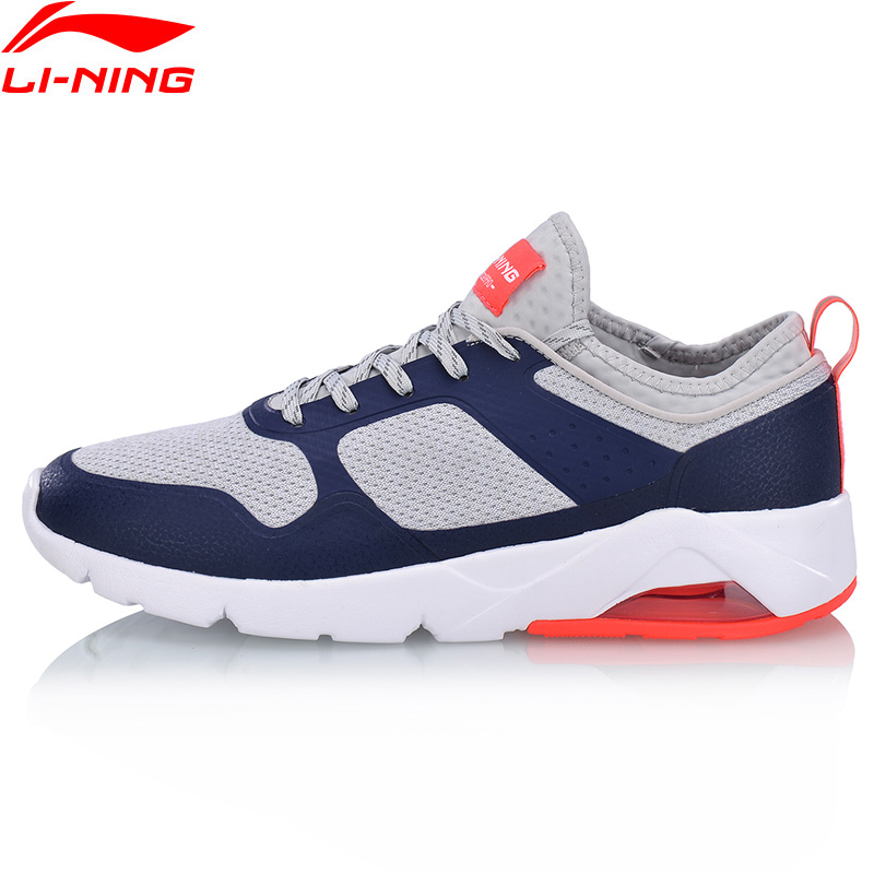 Li-Ning Men BUBBLE ACE SUPER Walking Shoes Breathable Cushion LiNing Comfort Wearable Sports Shoes Sneakers AGCN005 YXB147 mizuno men rebula v3 ag professional cushion soccer shoes sports shoes comfort wide sneakers p1ga178603 yxz069