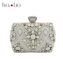 99d84eb907 RZX6 DHL Fast Shipping Ivory White Beading Crtstal Oval Evening Bags Clutch  Bag Women Clutches Lady · 3 Colors Available