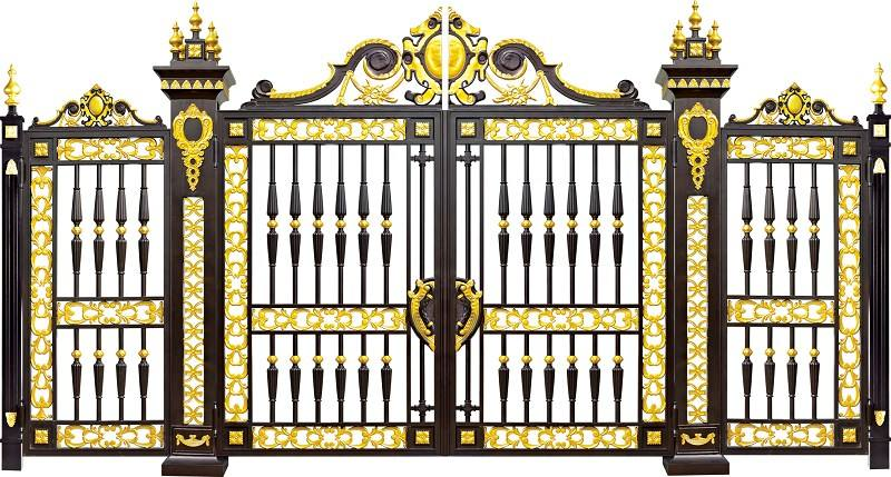 Home Aluminium Gate Design / Steel Sliding Gate / Aluminum Fence Gate Designs Hc-ag23